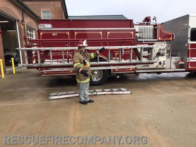 Captain Trey Davis conducting ladder training.