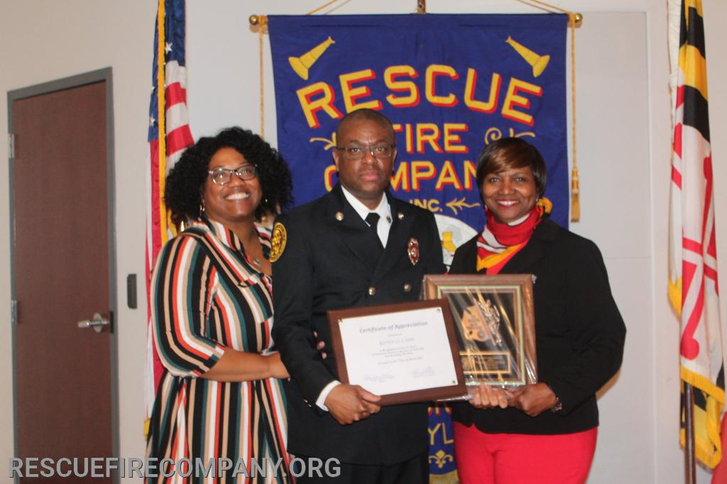 FF. Kevin O. Carr & Family (Ericca Stanley, & Mayor Victoria Jackson-Stanley)