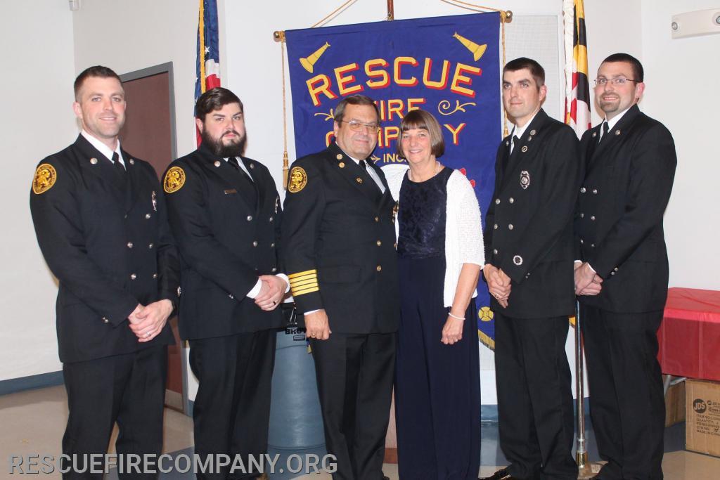 Past Chief Ricky Travers & Family L-R Ryan, Rob, Ricky & wife Rosi, Rick Jr & Randy.