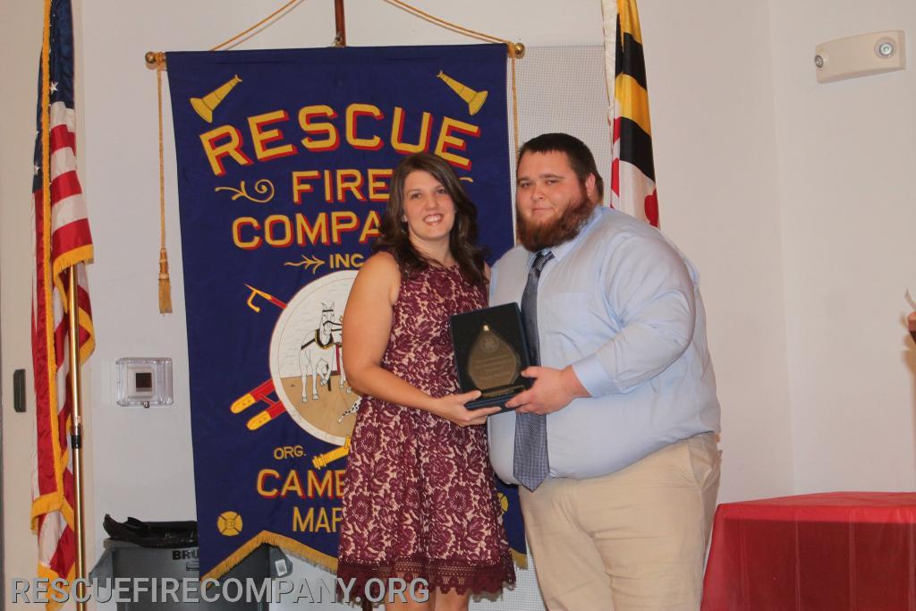 (2019 J. Whitey Barth Award)  Meghan McCarter was honored by Past President Tyler Jones.