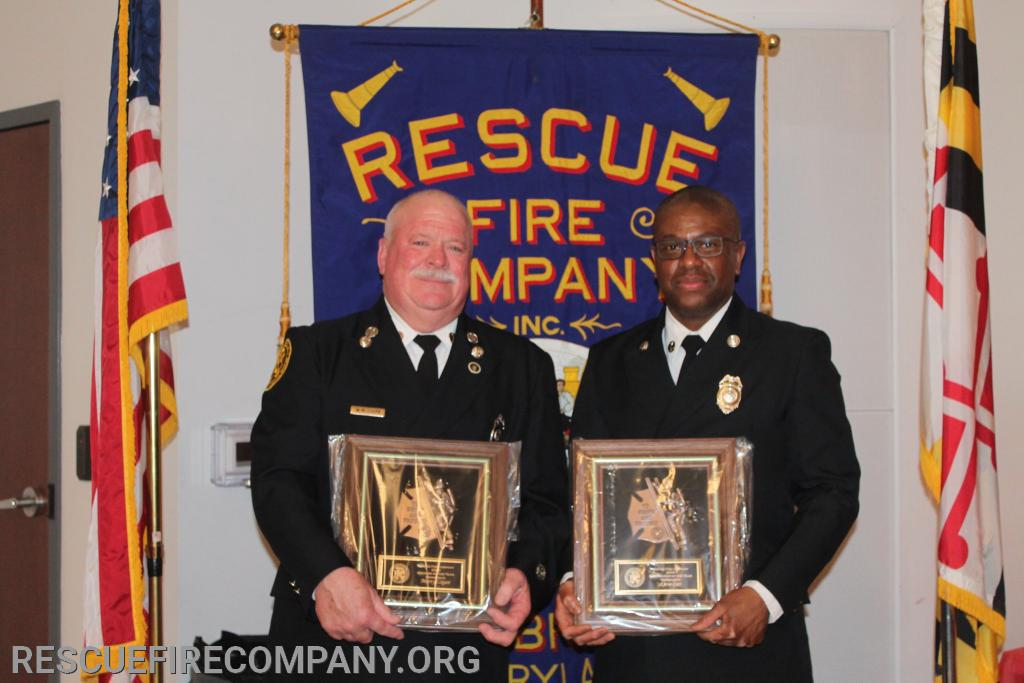 (2019 Officer & Firefighter of The Year) Lt Marty Logan, FF Kevin Carr
