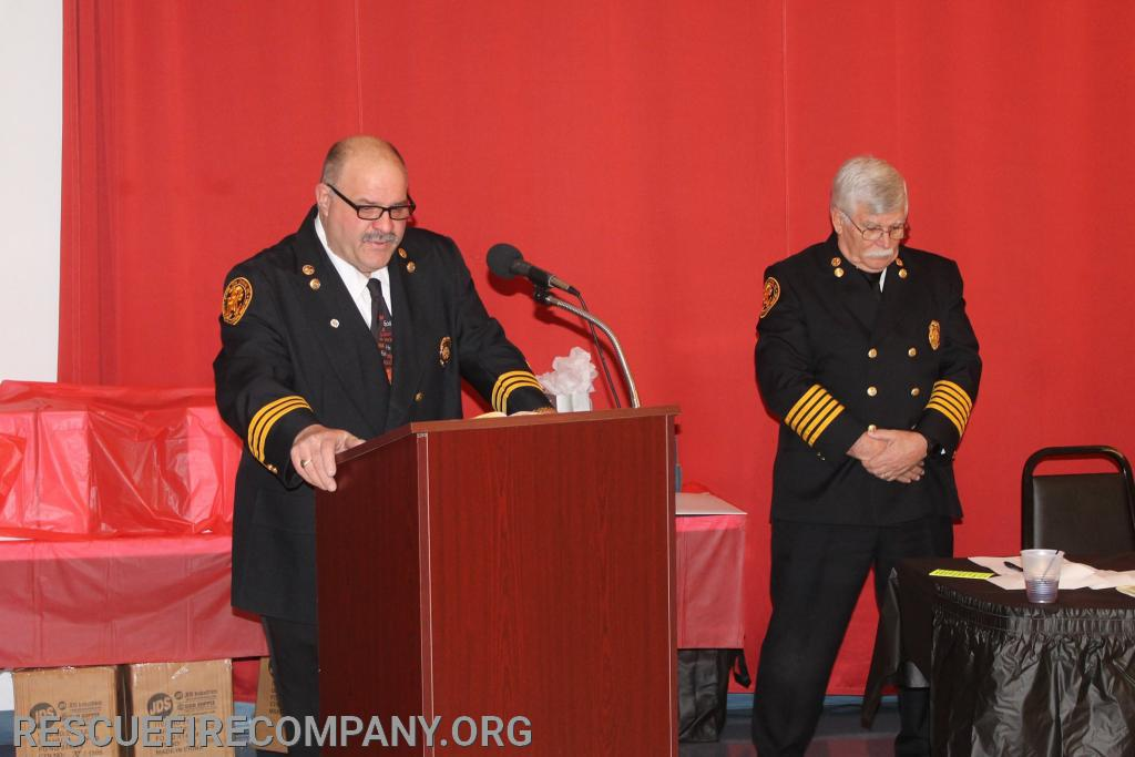 Past 2nd Asst. Chief Gary Hickman (Chaplin), & Rescue Fire Company Inc. President Robert Phillips