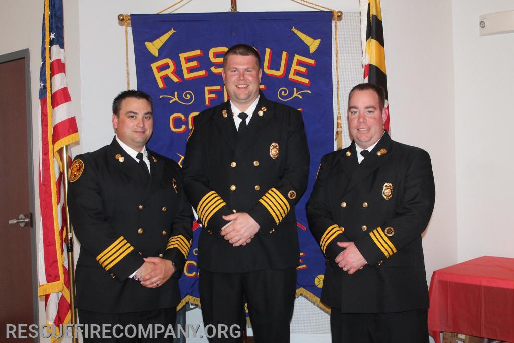 (The Chief's Office) 1s Asst. Chief Bra Walters, Chief Adam Pritchett, 2nd Asst. Chief Ben McCarter