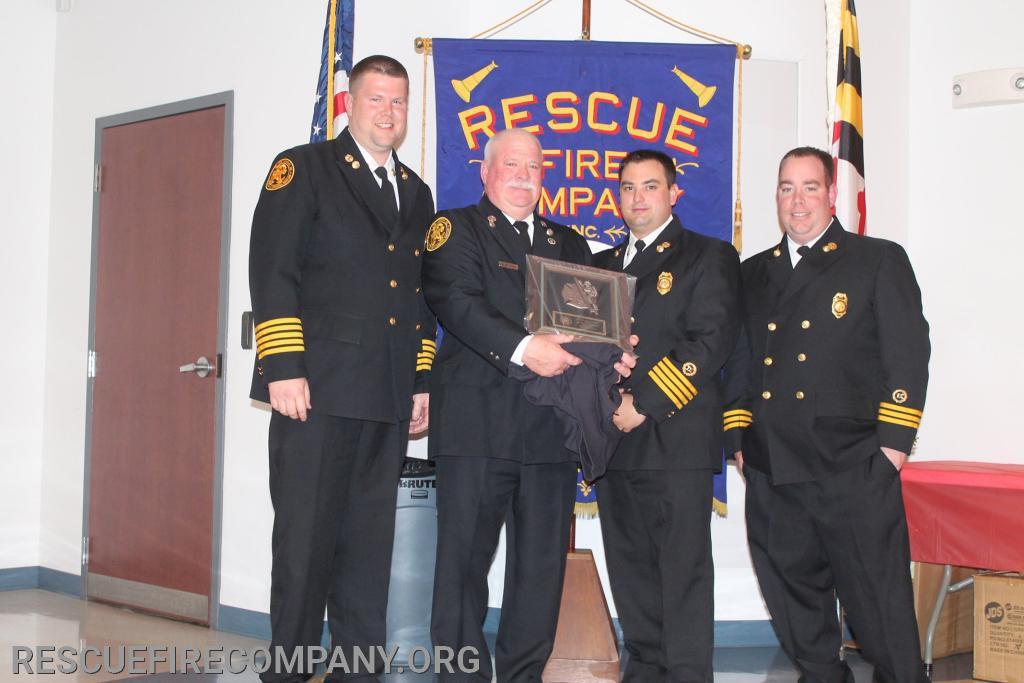 (2019 Officer of The Year) Chief Adam Pritchett, Lt Marty Logan, Asst. Chief Brad Walters, Asst. Chief Ben McCarter