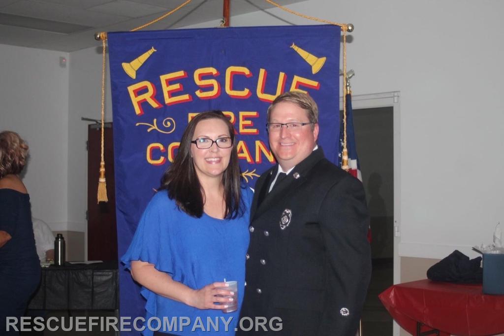 Matt Meekins with wife Angela Dodd Meekins