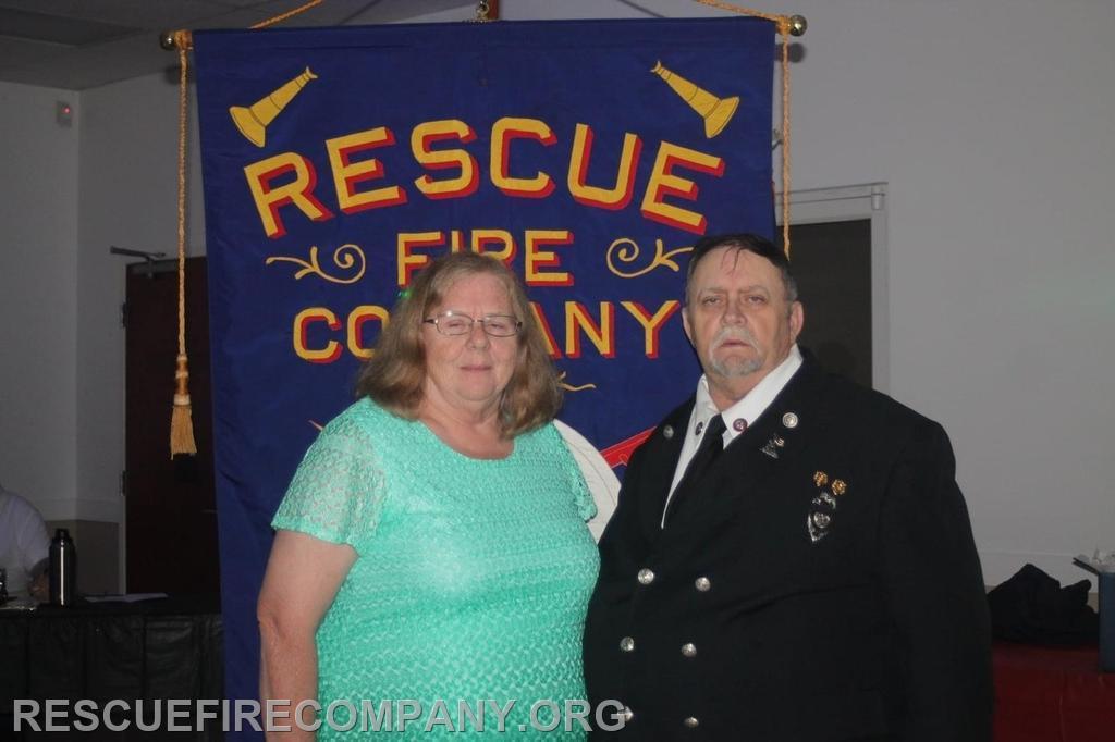 Vice President Frank Horsman with wife Linda Horsman (Secretary)