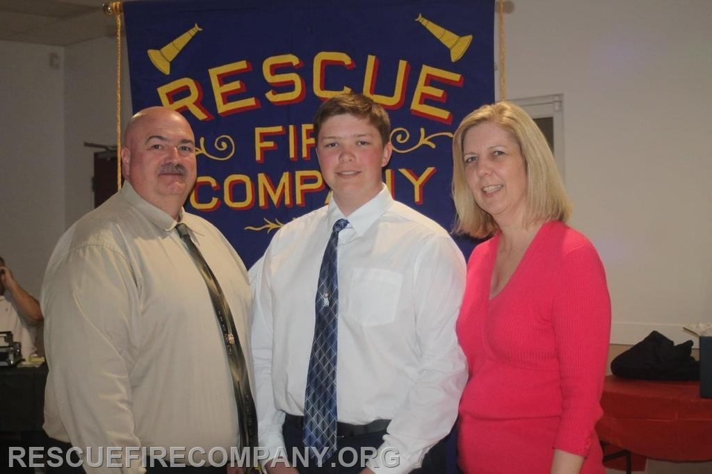 Jason Shorter (RFC Safety Officer) with son Alex Shorter, and wife Kimberly Shorter