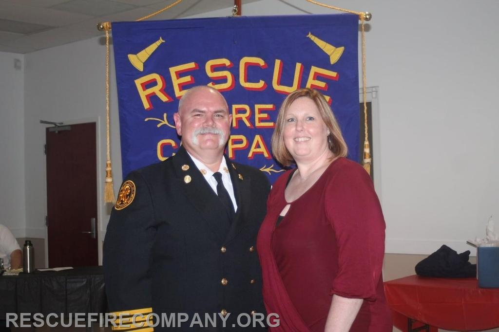 Past Chief Brian Willey with wife Amanda