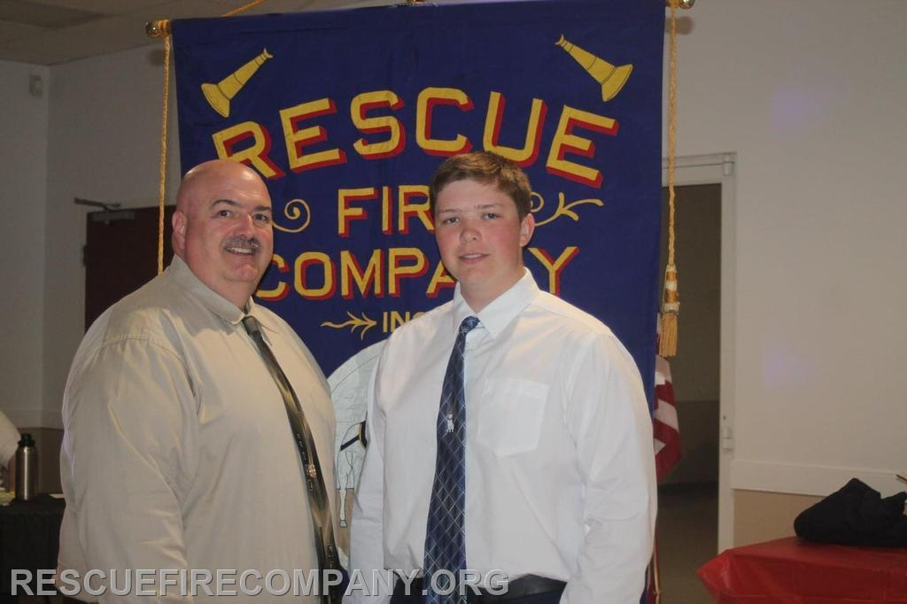 Jason Shorter (RFC Safety Officer), with son Alex Shorter