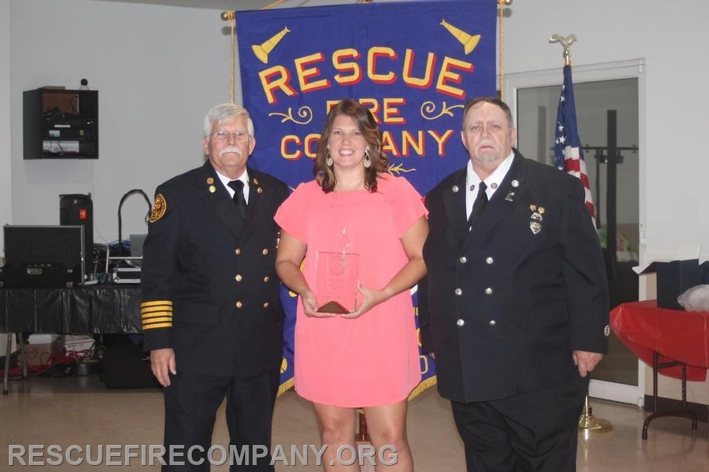 Meghan McCarter received The Presidents Award (presenting President Robert Phillips & Vice President Frank Horsman)