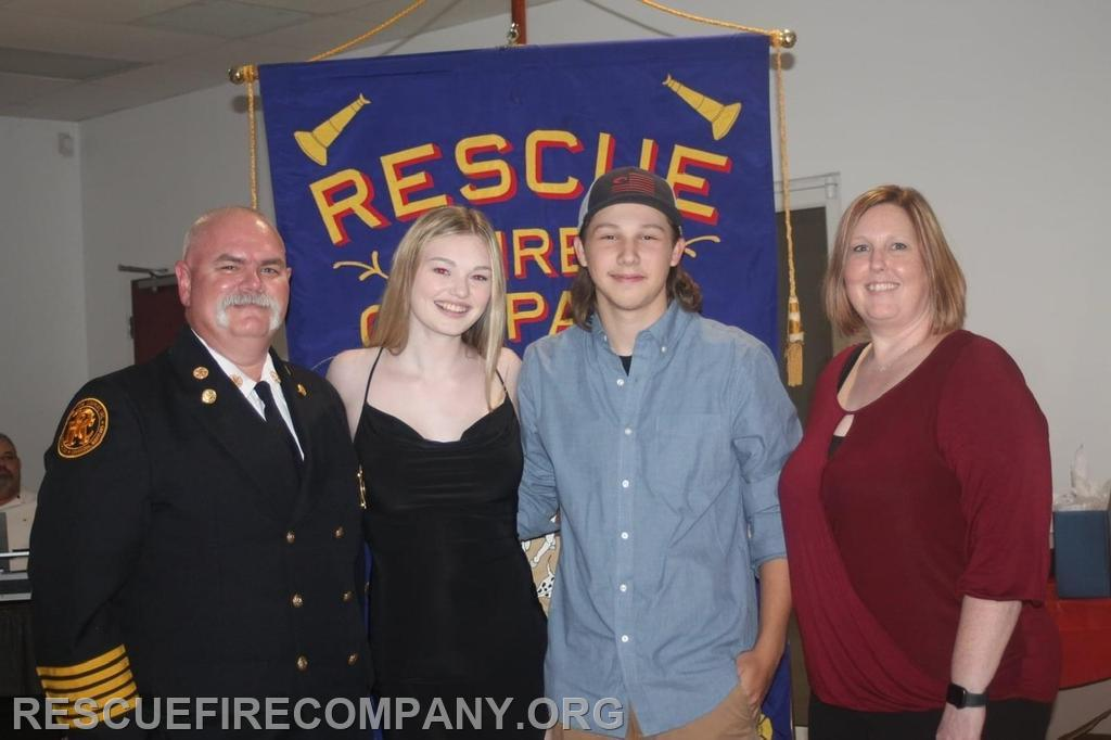 Past Chief Brian Willey, w/ (daughter) Kaci, Tucker Strong and (wife) Amanda