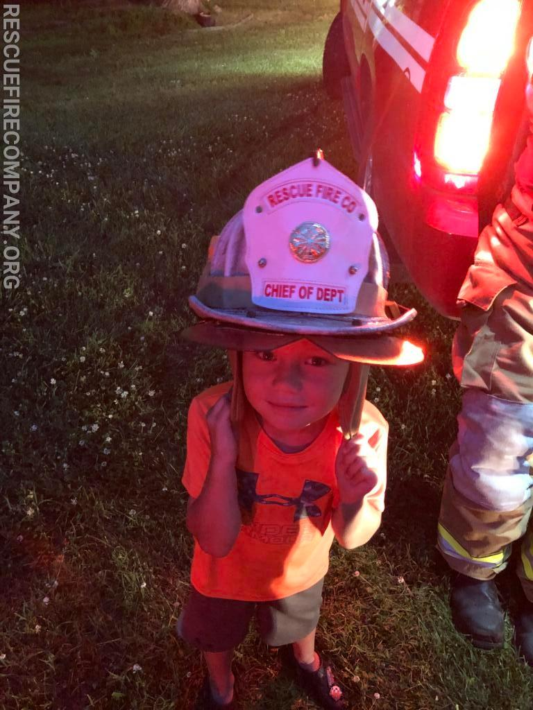 Young Chief McCarter on scene early before bedtime.